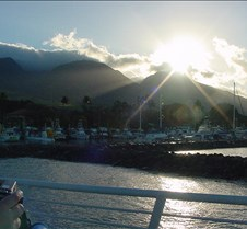 Looking Back at Lahaina Harbor