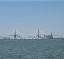 New Cooper River Bridge and USS Yorktown