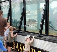 Kids at tank