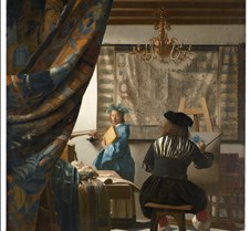 Painter in His Studio - Jan Vermeer - 16