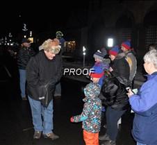 Erick Gandrud handing out candy