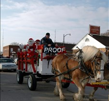 Santa and wagon tall