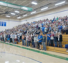 Students fill the gym