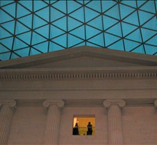 roof lines within the British Museum