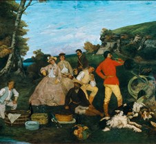 145Hunt Breakfast-Gustave Courbet-1858-W