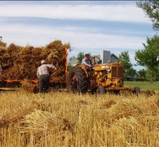 2004 Threshing 10th Anniversary Late season, about 3 weeks behind schedule because of much cooler/wetter weather.
