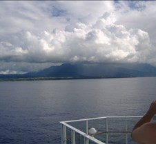 Approaching the Na Pali Coastline