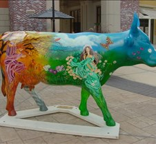 "2001-09 Houston Cow Parade 2001 In Houston this month is the ""Houston Cow Parade"" similar to what they had in Chicago a couple years ago. They put painted cows all over town and after they display them for a month they auction them off and the money goes to the Texas Childrens Charity. S"