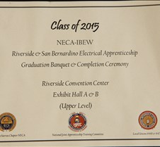 IBEW Apprenticeship  Graduation Class 2015 June 13, 2015 Portraits will be located in another album.
