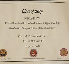IBEW Apprenticeship  Graduation Class 2015 June 13, 2015 Portraits will be located in another album.
