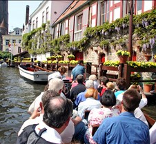 Boat Ride on a Canal in Bruges  Belgium
