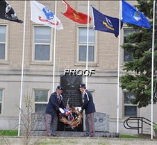 Placing a wreath courthouse