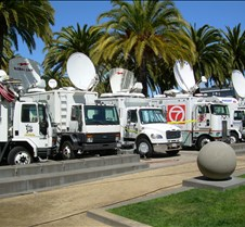 Lots of News Trucks