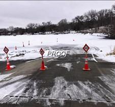 Thin ice at landing