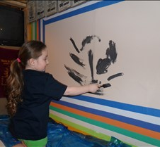 Lily painting annual wall