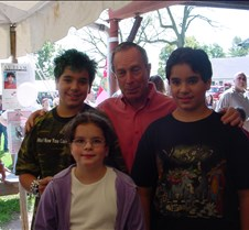 Erin & the boys with Mayor Bloomberg