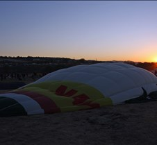 Sunrise Over Waiting Balloon