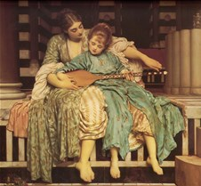 Music Lesson-Lord Frederick Leighton-188