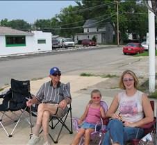 Grandpa, Hannah, & Kristin at the parade