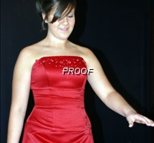 Red satin prom