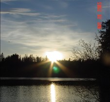 39.Sunset in Jack lake