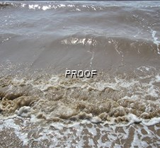 The waves at low tide