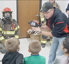 Showing off fire fighting tools