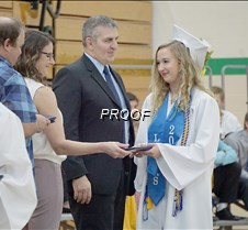 Lacey Entzi getting diploma