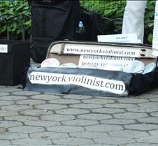 Susan Keser in Central Park Violinist Susan Keser in Central Park
