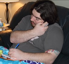 Adam answering phones