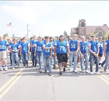 Football team at parade