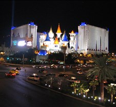 Excalibur at night