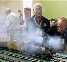 Rob Lenicheck Checks his Coal Fired Loco