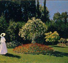 Woman in a Garden - Claude Monet - 1867
