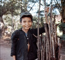 Boy With Collected Branches
