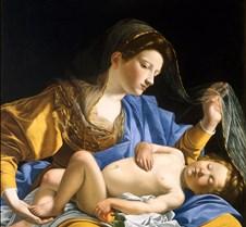 Virgin with Sleeping Christ Child-Orazio