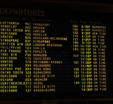 Tom Bradley Departure Board