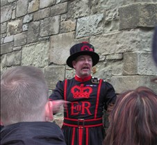 Guide at the Tower of London