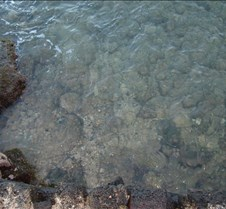 Ocean water in front of Lawai Beach