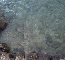 Ocean water in front of Lawai Beach