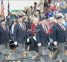 Veterans walking in