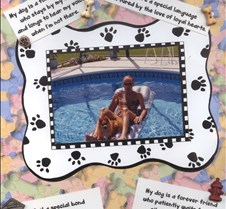 Dad and Dog in Pool