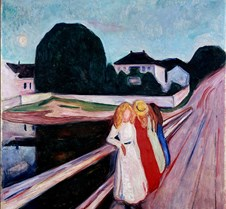 Four Girls on a Bridge-Edvard Munch-1905