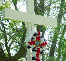 Wreath on cross