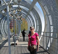 Footbridge to Rio Madrid park