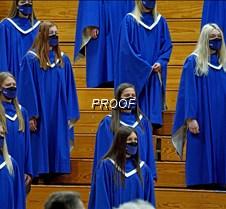 Concert choir sopranos close up