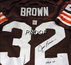 Auction Item - Jim Brown Jersey