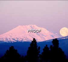 Mt Bachelor Moon Moon setting in early morning over Mt. Bachelor, Oregon