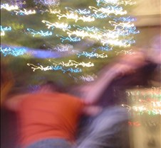Crazy fuzzy pict of Eric & Aaron by tree