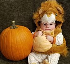 Jack 10-31-17 in a lion suit